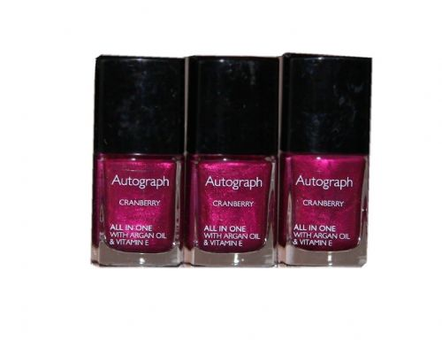 24 x Autograph by M&S All in One Nail Colour with Argan Oil 11ml | Cranberry